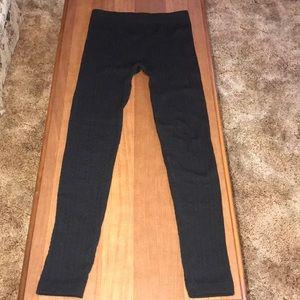 Maurice's Black Fleece  Lined Sweater Leggings S/M